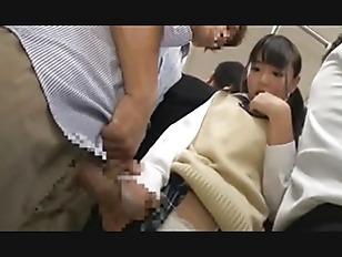 Japanese Schoolgirl Gets Train Choke and Squirting