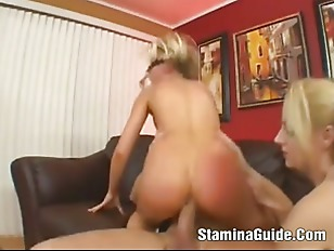 Picture Two Horny Babes Takes One Huge Cock And Do A...