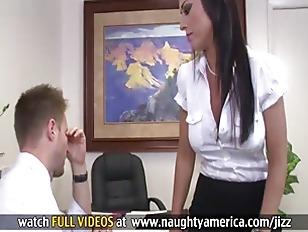 Big Tit Brunette Boss...