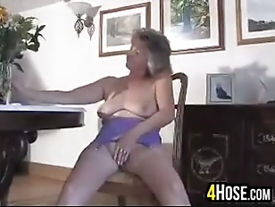 Picture Cute Granny Doing A Striptease