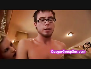 Naughty Cougars Catch Young...