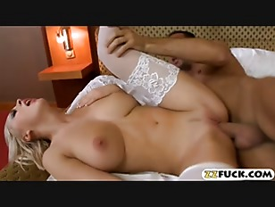 Big boobs blonde maid banged by big cock in the bedroom