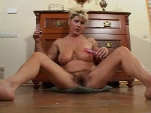 Busty milf strips and toys