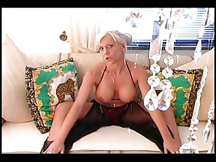 Picture Busty Blonde Touching Her Sexy Body