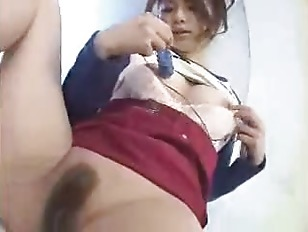 Cute Japanese Teen Internal Cumshot On Hairy Pussy