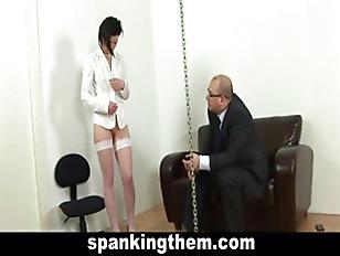 Lazy Office Girl Punished...