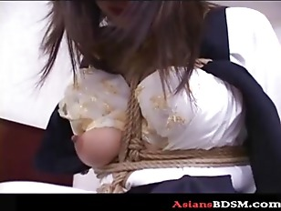 Japanese Hottie Hogtied With...