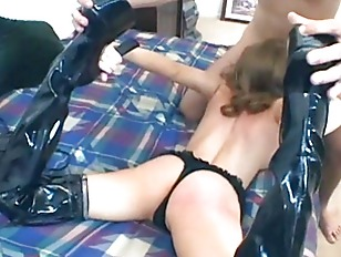 Picture Thigh High Boot Sex With Sexy Babe In Stocki...