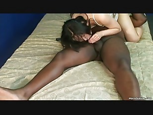Sucking a black cock...