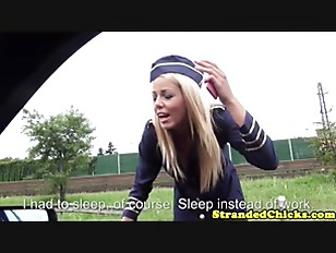 Picture European Young Girl 18+ Stewardess Banged In...