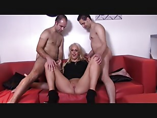 Blonde Fucked By Two...