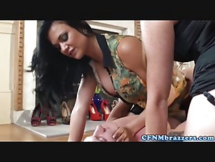 Picture Glam CFNM Threeway With Busty British Femdom