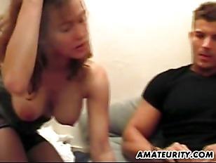 Busty French Girlfriend Sucks...