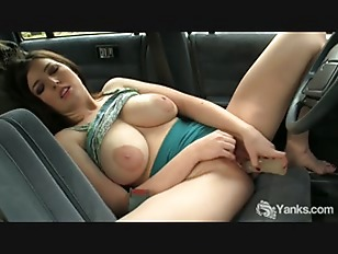 Picture Busty Amber Toy Her Pussy In The Car