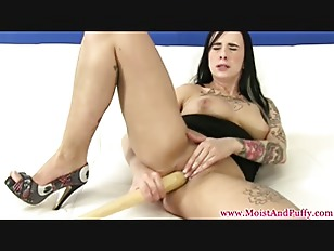 Emo Babe Masturbating With...