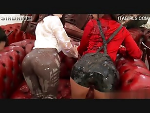 Picture Clothed Sluts Get Wild With Oil