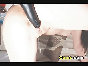 Picture Horny Babe Sucks And Fucks Her Dildo