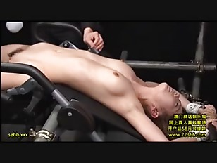 Japanese chick tied up and pussy gagging