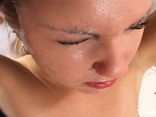 Picture Wild Blond Gets Jizzed On