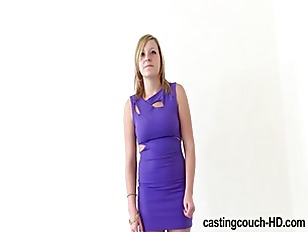 Casting A Tight Blonde...