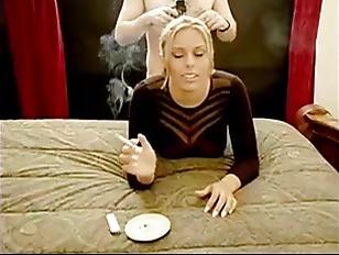 Smoking Blonde In Doggystile...