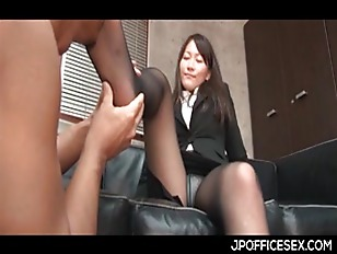 Appealing Asian Secretary Stripped...