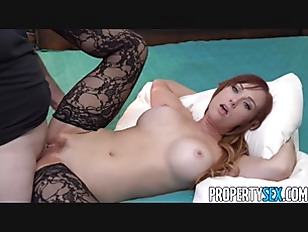 Redhead agent caught playing with herself