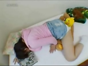 Something is. Jumbo teddy bear fucks a girl