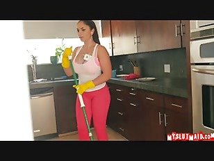 Hot Latina Maid Gargles...