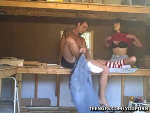 Picture Amateur Couple Fucking In The Woodshed