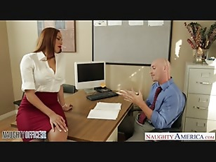 Stockinged babe Serena Ali fuck in the office