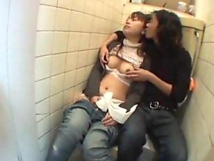 Sleeping Girl fucked on a public Toilet