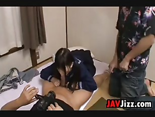 Picture Sweet Schoolgirl In A Threesome