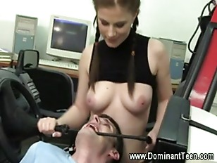 Picture Femdom Babes Suck And Tug Their Subject