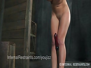 Picture Cherie Deville In Stocks and Head Box With E...