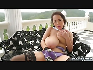redhead chick with big boobs solo play