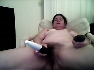 Picture Wanking With Wand And Cucumber