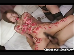 Asian Slut Waxed Up...