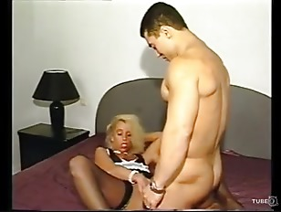 Picture Blonde Maid Cleans Dude's Pipe Of All H...