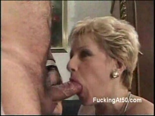 Granny blows cock