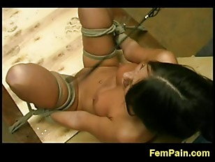 Picture Cute Brunette Tied Up For Whipping