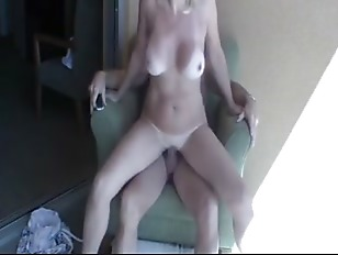 Golden-haired wife having...