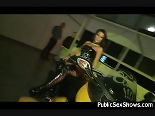 Gorgeous Brunette Stripper Is...