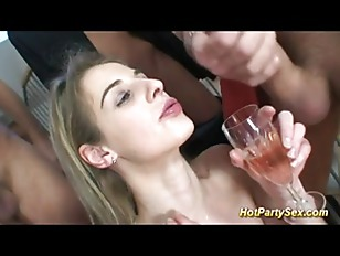 Picture Cute Young Girl 18+ Drinks A Glass Of Wine M...