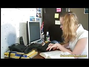 Blonde Schoolgirl In Crazy...