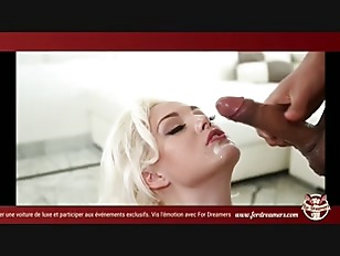 Picture Satisfied Blonde Gives A Blowjob And Gathers...
