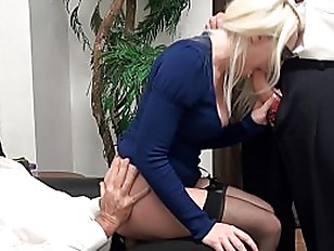 Broke Blonde Tagteamed By...