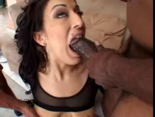 Ricki White interracial anal threesome facials