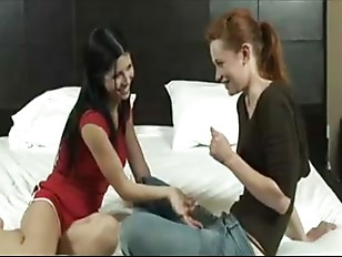 Lesbian play on bed