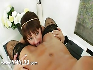 Picture Lezzie Anal Babes Using Brutal Dildos